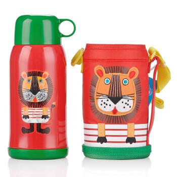 虎牌(Tiger)明星款儿童保温杯MBJ-C06C-EL狮子 600ml带杯套