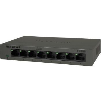 美国网件(NETGEAR)FS308 8端口 100M铁壳以太网交换机