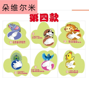 幼儿园学校洗手步骤图六七步洗手法墙贴洗手间标志早教中心专用 第四