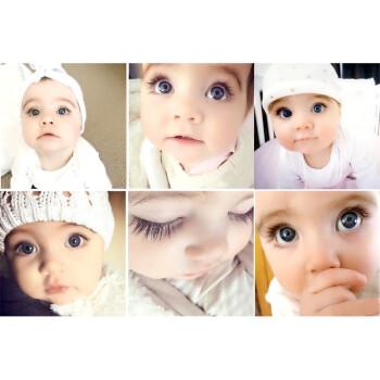 大眼宝宝画报墙贴备孕可爱胎教萌娃娃画海报小孩相片男婴儿墙贴 金色