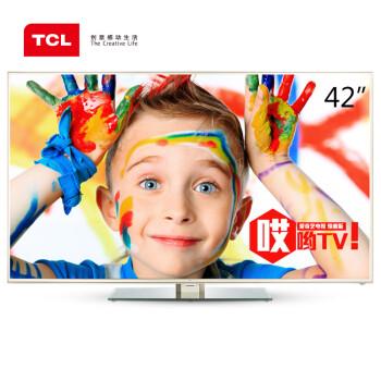 TCL D42A710 42英寸 海量影视资源 超窄边框 内置wifi 安卓4.0 智能云液晶电视(金色)