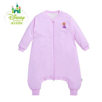 Disney/迪士尼 贝贝怡 婴儿睡袋宝宝分腿式防踢被长袖双层夹棉睡袋153P688 淡粉 110cm