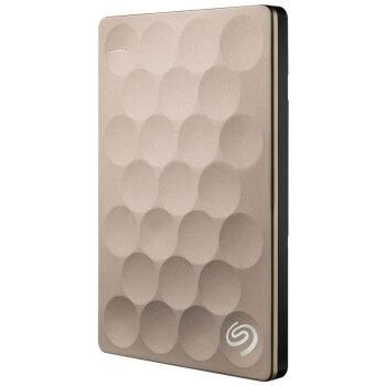 希捷(Seagate)Backup plus Ultra slim 1TB 纤薄9.6mm 2.5英寸 USB3.0 移动硬盘 (STEH1000301)