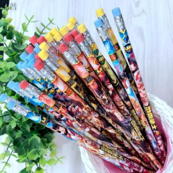 王者荣耀铅笔铅笔 原木桶装圆柱hb绘图小学生hb写字笔