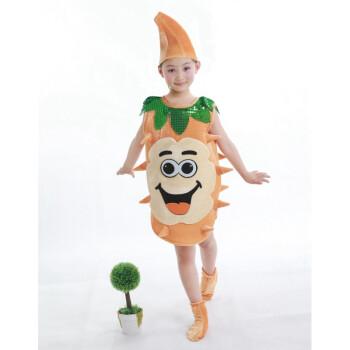 六一节儿童动物演出服幼儿园舞台刷牙小虫子蛀牙细菌牙齿表演服装 姜