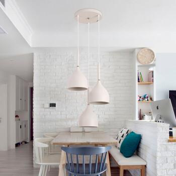 雷士照明(NVC)餐吊灯  创意个性餐厅吧台吊灯 现代浪漫灯具 圆形底盘不带光源