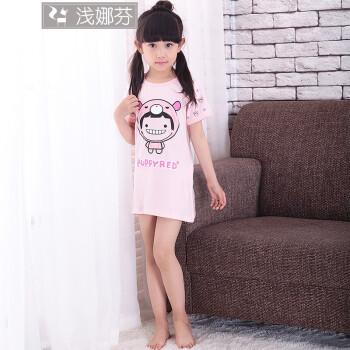 3-14岁儿童睡衣睡裙夏季儿童睡裙女童棉质夏款小女孩大童宝宝可爱公主