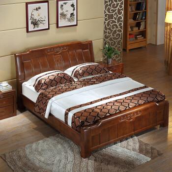 佐慕实木家居床双人床1.8米1.5米储物床中式胡成都洪天有限公司家具图片