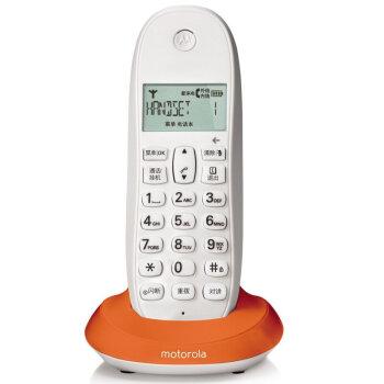 摩托罗拉(MOTOROLA)C1001XC 数字无绳无线办公单机来电显示三方通话家用电话机