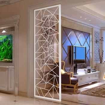 铁艺隔断欧式客厅玄关门厅餐厅现代中式屏风鞋柜入户镂空花格墙 黑色图片