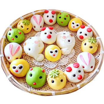 儿童卡通花样馒头零食早餐面点食品花馍馍面食胶东花饽饽传统糕点手工图片