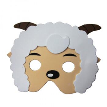 eva儿童卡通动物面具玩具幼儿园角色区材料游戏童话表演 喜羊羊