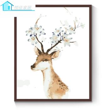 diy数字油画客厅风景花卉动漫人物简单手绘填色装饰画
