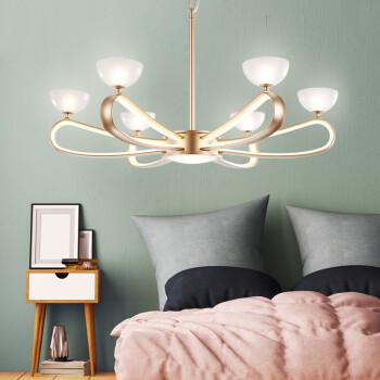 欧普照明(OPPLE)现代时尚吊灯智能调光创意个性餐厅客厅卧室灯具新风尚 依芸6头