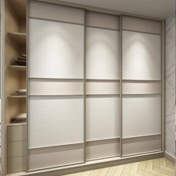 耐磨衣柜门推拉门定制2门卧室现代简约壁橱门隔断推拉