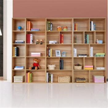 嫣冉精品展示柜陈列简易书柜书架置物架自由组合钢木书架古董书柜