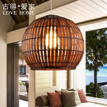 名虎 中式竹编吊灯灯 餐厅咖啡厅创意藤艺吊灯 东南亚手工竹编灯具图片