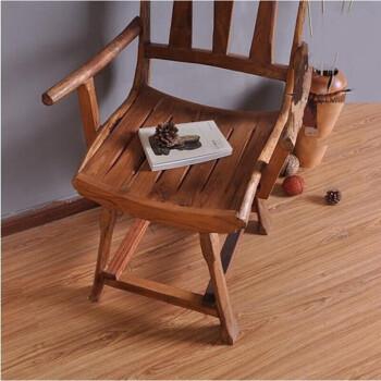 泰式原椅子 东南亚风格柚办公椅居复古餐椅凳子电脑椅