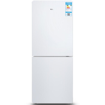 TCL BCD-171KF1 171升 双门冰箱 一体成型 全局光(芭蕾白)
