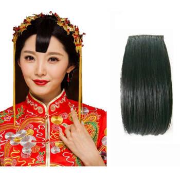 新娘秀禾服造型假发刘海片中式婚礼新娘秀禾小刘海古装桃心刘海 深