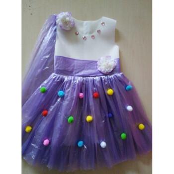 古莱登元旦环保服装塑料袋时装秀幼儿园走秀手工制作演出服新品衣服