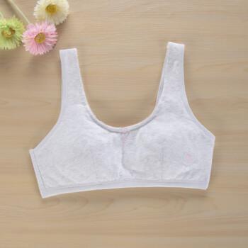 胖学生内衣文胸发育期大码女童10-11-12-13-14岁初中生小背心 7201花