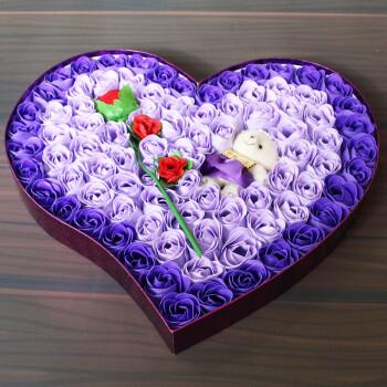 教师节礼物送女老师幼儿园香皂玫瑰花高档的礼盒实用礼品手工diy 92朵