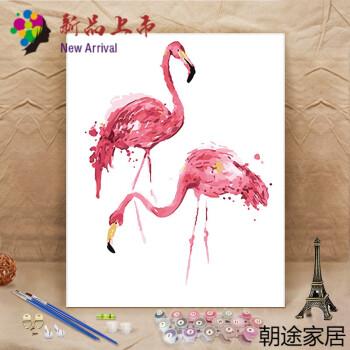 动物卡通动漫填色油彩手绘装饰画定制款 a437 40*50厚框25cm 赠颜料