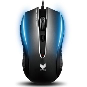 雷柏(Rapoo)V300C 光学游戏鼠标 黑色