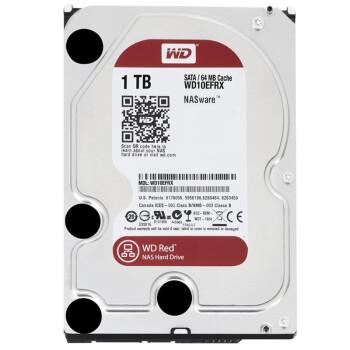 西部数据(WD) 红盘 1T 5400-7200转 SATA3 台式机硬盘 WD10EFRX