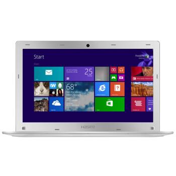 神舟(HASEE) 优雅XS-5Y10S1 14英寸笔记本电脑(Core M-5Y10c 4G 128GB HD5300)银色