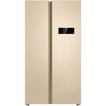 美菱(MeiLing) BCD-607WECX 607升 对开门冰箱 风冷无霜 时尚隐形门把 (金色)