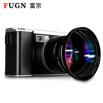 Fujing (FUGN) D500 digital camera card machine beauty micro single 4.0 big screen selfie travel convenient camera black package two