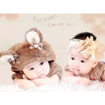 女宝宝图片墙贴画婴儿照片海报孕妇漂亮女孩大眼睛萌娃宝宝画报 大张