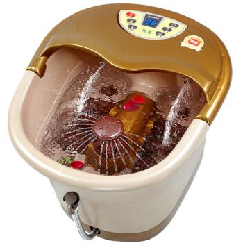 朗康 自动按摩足浴盆 洗脚盆 足浴器 泡脚盆加热按摩 深桶喷淋冲浪足浴桶 LK-8120