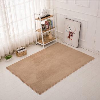 小地毯卧室床边客厅床前长方形家用可爱榻榻米满铺房间客厅地垫子 浅