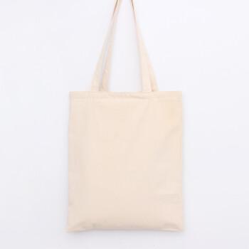一口米 空白手绘系帆布包文艺环保袋单肩斜挎包女包米色手工布袋 广告