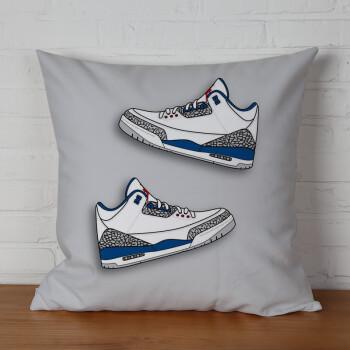 创意aj插画设计涂鸦手绘球鞋周边抱枕被子两用床头靠背垫 17 36x36cm