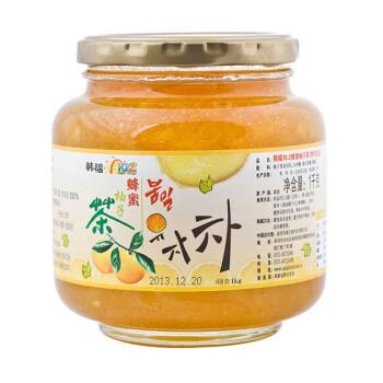 韩国原装进口 韩福10.2 蜂蜜柚子茶1000g