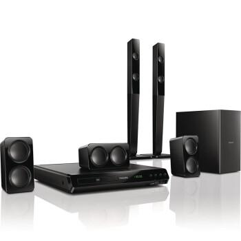 飞利浦(PHILIPS)HTD3540 音响 家庭影院 DVD 5.1声道音箱 高清1080P USB连接 卡拉OK(黑)
