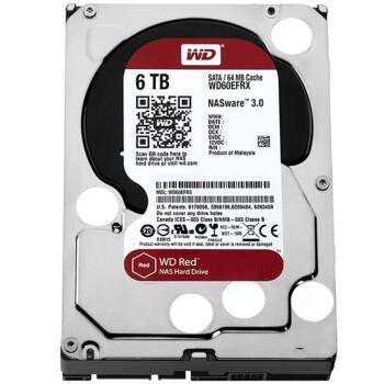 西部数据(WD) 红盘 6T 5400-7200转 SATA3 台式机硬盘 WD60EFRX