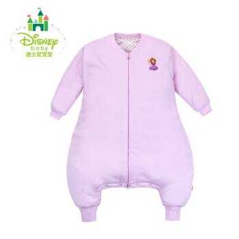 Disney/迪士尼 贝贝怡长袖夹棉分腿睡袋婴儿睡袋分腿秋冬款宝宝防踢被加厚153P690 淡粉 110cm