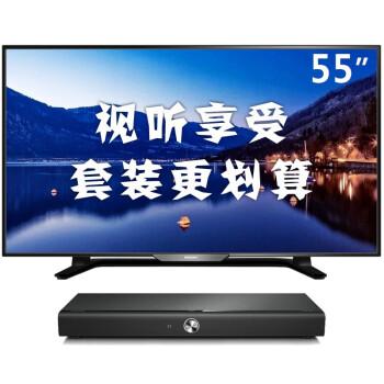 飞利浦HTL4110B/93音响+飞利浦55PFF5650/T3 55英寸液晶电视 家庭影院套装