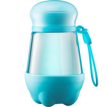 物生物/relea 360ml麦斯玻璃杯 可爱水杯女 便携泡茶杯子 天空蓝