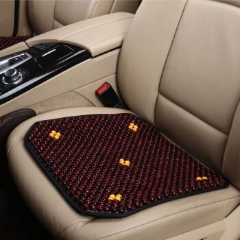 透气五座通用汽车座垫 按摩汽车 黑红色-单片1张 福特福睿斯翼博探险