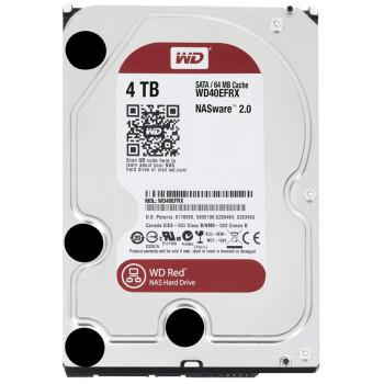 西部数据(WD) 红盘 4T 5400-7200转 SATA3 台式机硬盘 WD40EFRX