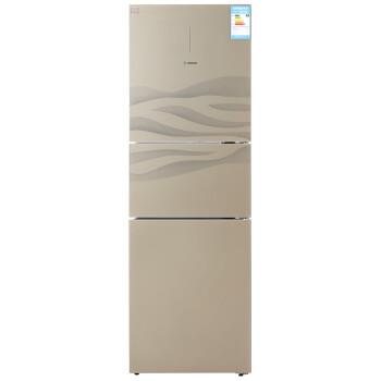 博世(BOSCH) BCD-296(KGF30S140C) 296升 变频 三门冰箱 零度保鲜 LED双显屏 宽体(流沙金流纹)