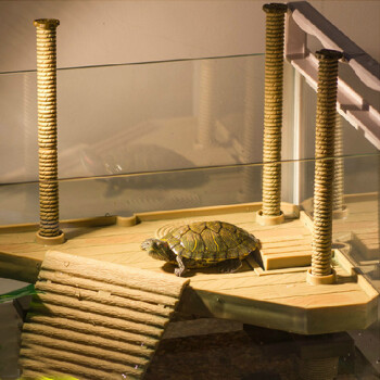 水族箱鱼缸造景乌龟晒背台水龟晒台巴西龟草龟爬台爬坡晒背台浮力晒台