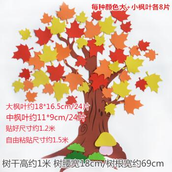 幼儿园春天许愿树教室班级文化墙主题黑板报叶子枫树环境装饰墙贴