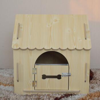 家居日用 猫狗窝 森森(sunsun) t15复古款狗木屋宠物房子泰迪贵宾斗牛